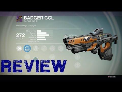 Destiny badger ccl legendary scout rifle reveiw destiny gameplay