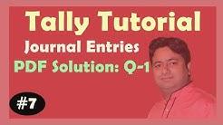 PDF Solution Q-1 : Cash-Bank Book | Voucher Entries in Tally ERP 9 PDF Solution | Learn Tally ERP 9