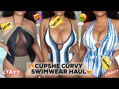 CUPSHE SWIMWEAR/BIKINI TRY ON HAUL FOR BIG B^ST | PLUS SIZE/CURVY FRIENDLY
