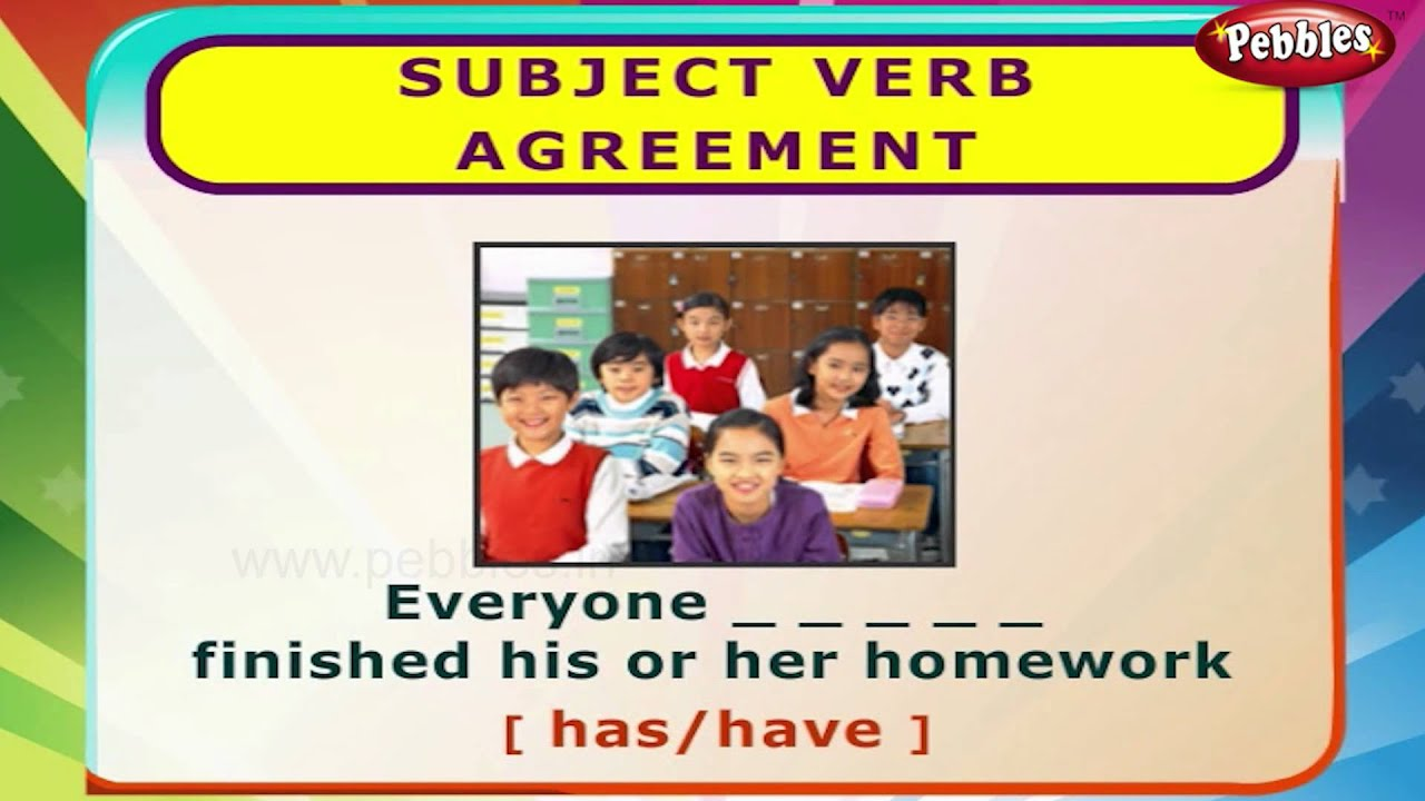 Subject Verb Agreement | English Grammar Exercises For Kids | English  Grammar For Children
