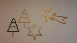 DIY How to make Big Christmas star from popsicle/wooden stick | Easy Christmas craft