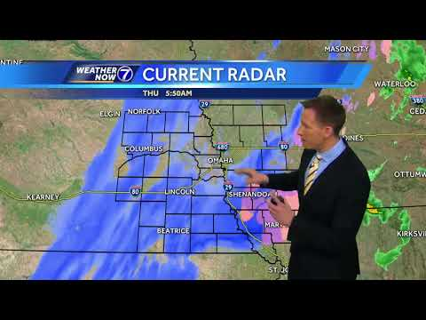 Snow now falling on top of patchy ice in Omaha, heavier snow southeast