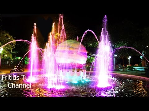 Travel to Vietnam 2017 Nha Trang city Nightlife, wonderful Fountain