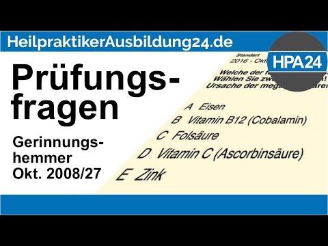heilpraktikerprüfungsfragen:-gerrinnungshemmer