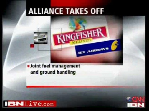 Kingfisher Airlines and Jet Airways Code Sharing