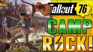 #Fallout76 C.A.M.P ROCK!  - Music concert camp build!
