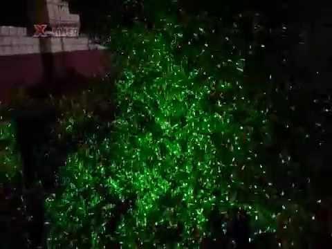 Elegant Red And Green Static Firefly Garden Laser