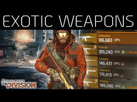 The Division Exotic Weapons | New Talents | All Drop Locations
