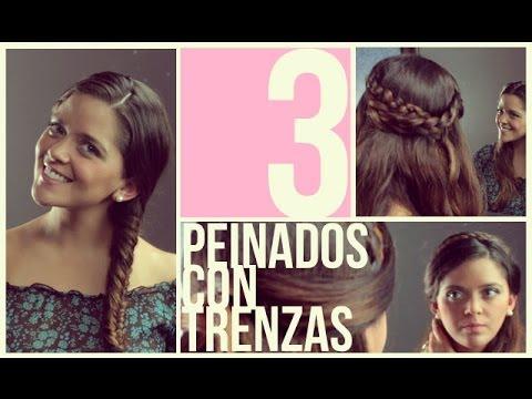 Peinados fáciles y rápidos con Trenzas para pelo corto/largo (Short Hair Hairstyles)Trenzas , YouTube