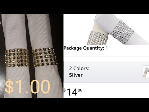 LOOK FOR LESS CHALLENGE /D.IY DIAMOND WRAP NAPKIN RING/2018