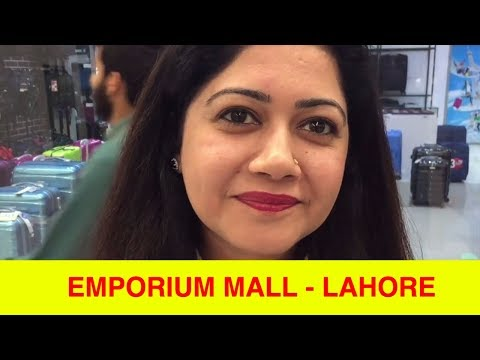 A walk-about in Emporium Mall, Lahore.