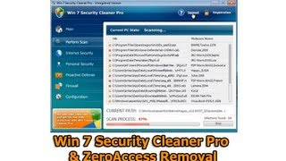 Win 7 Security Cleaner Pro and ZeroAccess Removal by Britec
