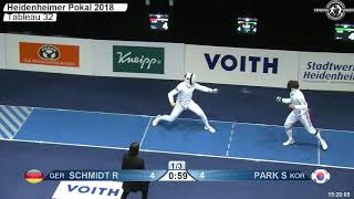 2018 98 T32 04 M E Individual Heidenheim GER WC BLUE SCHMIDT GER vs PARK KOR