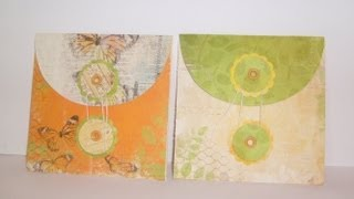 How to Make Button & String Envelope Making Envelope out of Paper