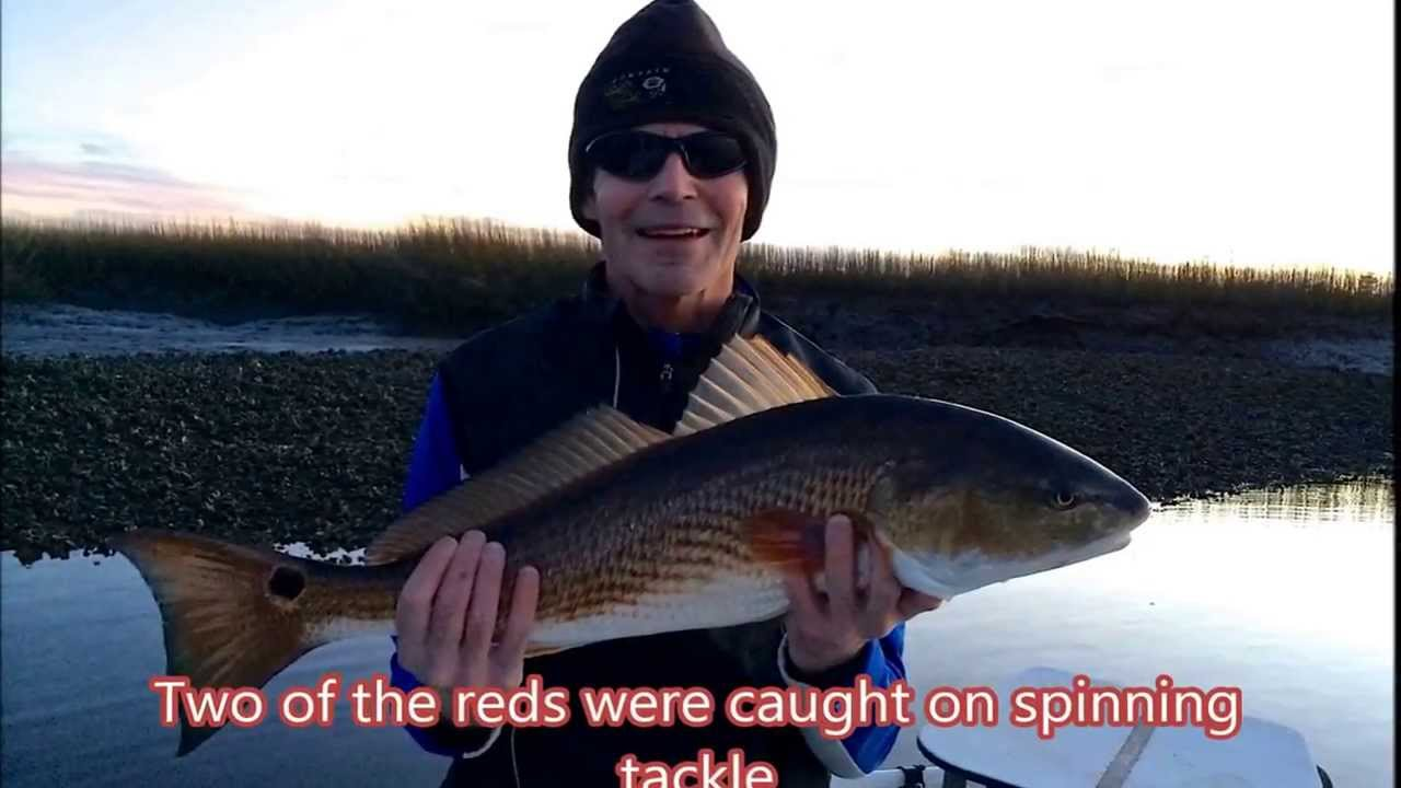 Winter time fishing for red fish at st simons ga youtube for Georgia out of state fishing license