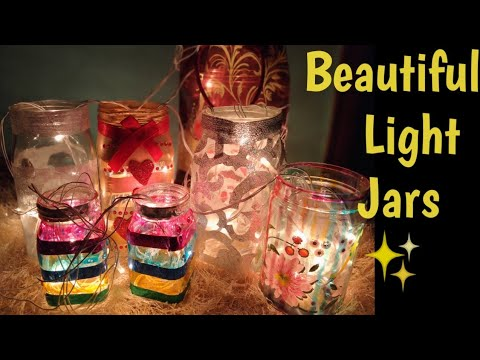 DIY Lighted Mason Jars for Diwali Decoration||Jar Lamps and Lantern|| Fairy Glow jars for Christmas.