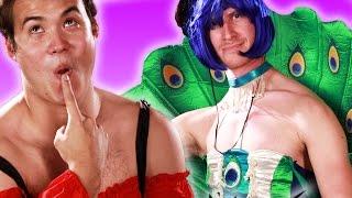 Boyfriends Try Their Girlfriends' Sexy Halloween Costumes