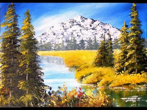Majestic Mountains – Acrylic Painting Lesson