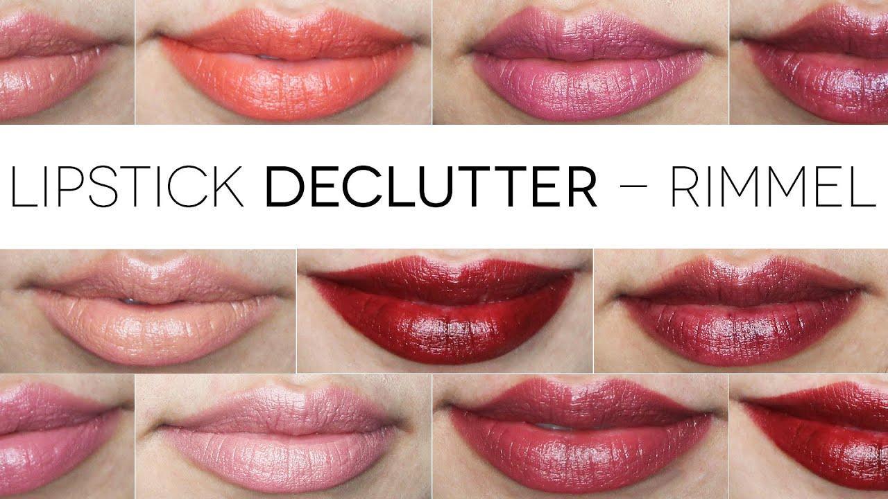 Rimmel Lipstick Swatches | Makeup Declutter - YouTube