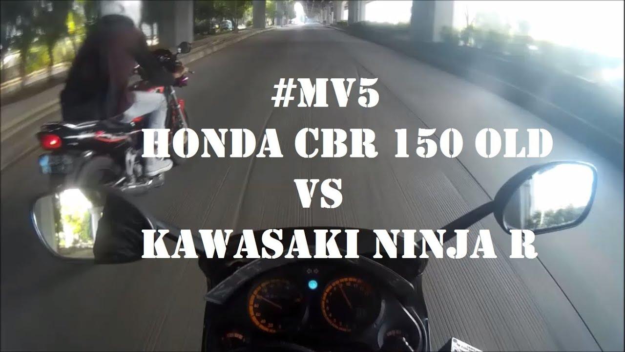 mv5 - honda cbr 150 old vs kawasaki ninja r | motovlog indonesia