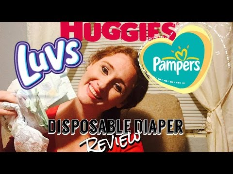 DISPOSABLE DIAPERS REVIEW || Huggies, Pampers + Luvs