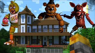 Minecraft FNAF APPEAR AT MY HOUSE IN MINECRAFT / FIGHT OFF FIVE NIGHTS AT FREDDY'S !! Minecraft Mod