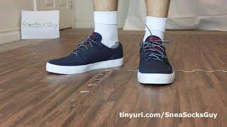 PUMA Navy Sneaker and White Crew Socks