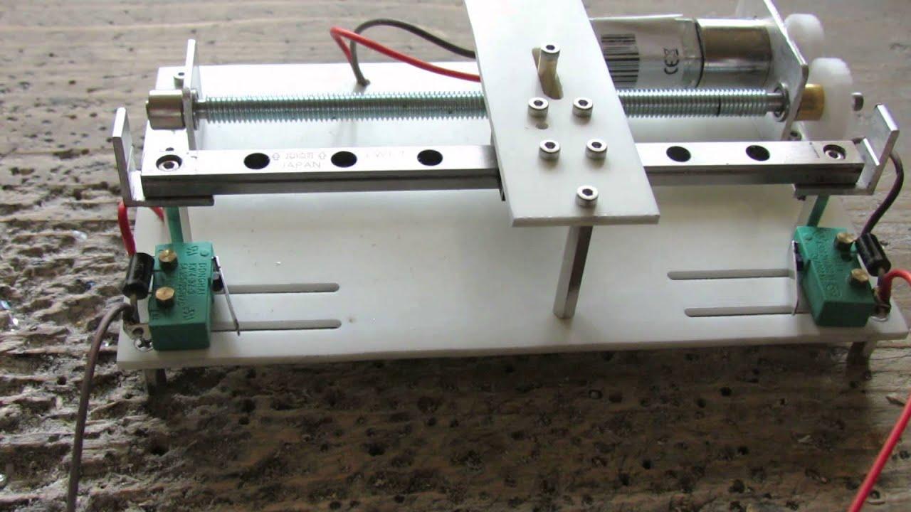 modellbau schlitten hubmechanik mit linearf hrung getriebemotor viyoutube. Black Bedroom Furniture Sets. Home Design Ideas