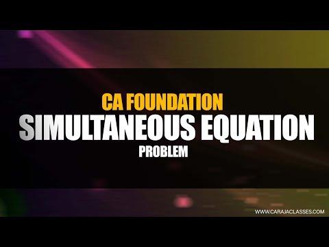 CA Foundation | Simultaneous | Problem thumbnail