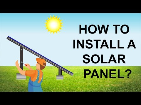 How to install solar panels at home?