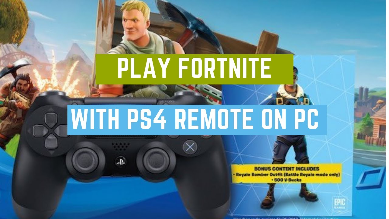 How to play Fortnite on PC using your PS4 controller (USB)