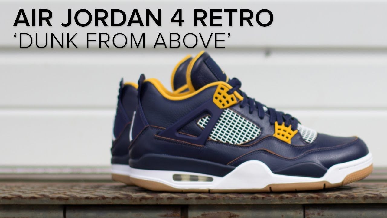 622ab320cdf5 Air Jordan 4  Dunk From Above  Quick On Feet Review - YouTube