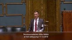 Mika Niikko al-Hol välikysymys 17.12.2019