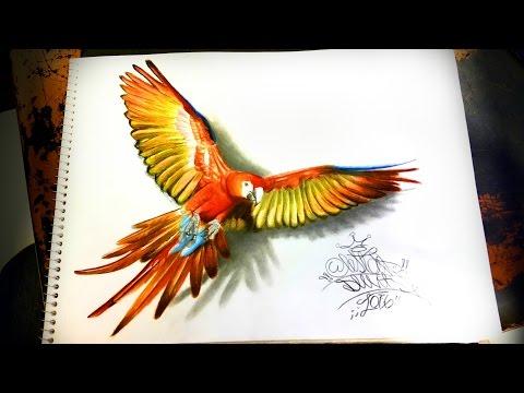 como dibujar un ave ▶2016 resolución 4k