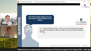 Can I return to Oracle support after moving to a third party support provider?