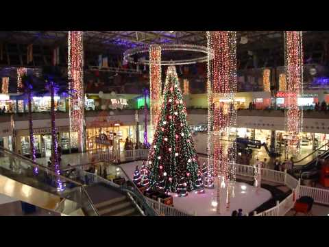 2012 Christmas Light Show in Micronesia Mall Guam - let it snow