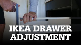 How to Adjust IKEA Drawers