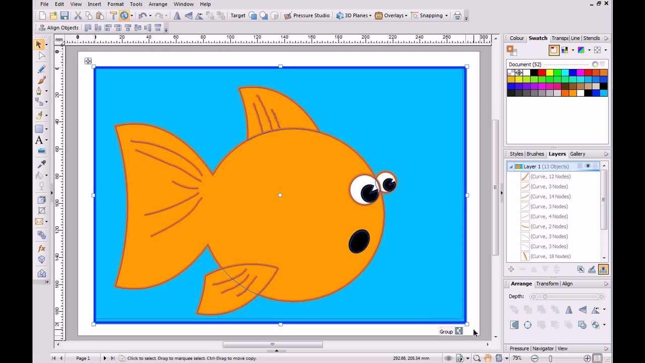 Serif Drawplus X6 Tutorial Quickshape Cartoon Youtube