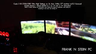 Frank Crysis3 Triple Screen - Testing Subwoofers