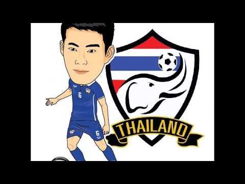 รวมภาพการ์ตูนนักเตะทีมชาติไทย