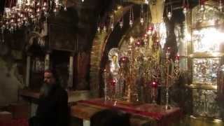 Procession of an Armenian monk at the Golgotha ​​(Calvary), Church of the Holy Sepulchre, Jerusalem.