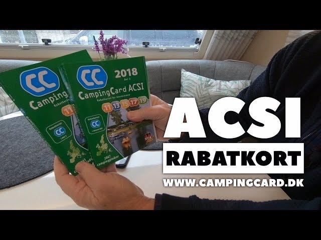 ACSI campingkort og bøger 2018