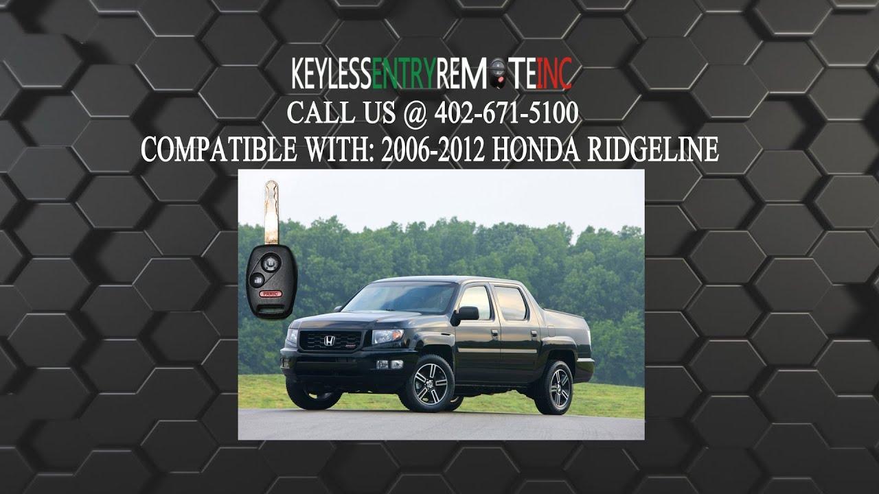 How To Replace Honda Ridgeline Key Fob Battery 2006 2007 2008 2009 2010 2011 2012 - YouTube