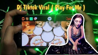 Tiktok Viral - DJ Play For Me Kaweni Merry Remix | Real Drum Cover 2020
