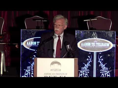 Former US Ambassador to UN John Bolton at Bet El Gala Dinner 2017