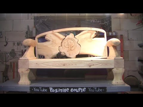 Woodworking. Sofa made of solid wood. Диван из массива дерева.