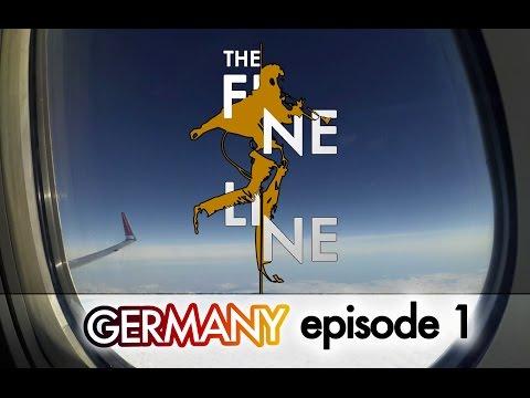 Slackline Tricks, Fails & Basics - The Fine Line #1 - GERMANY Travel Vlog