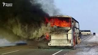 Автобус ҳалокатида 52 ўзбекистонлик ёниб кетди. Мирзиёев махсус комиссия тузди