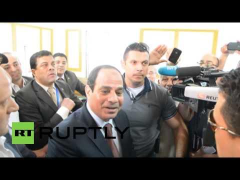 Egypt: Al-Sisi casts his ballot in Heliopolis