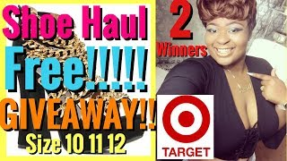 TARGET GUIDE TO BUYING WOMEN SHOES SIZE 10 11 12 Size 12 try on Haul FREE SHOE OPEN GIVEAWAY